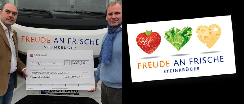 Größter GEFA online Bonus 2018 für Olaf Matthies, geschäftsführender Gesellschafter der Steinkrüger Frucht- & Frischehandel GmbH